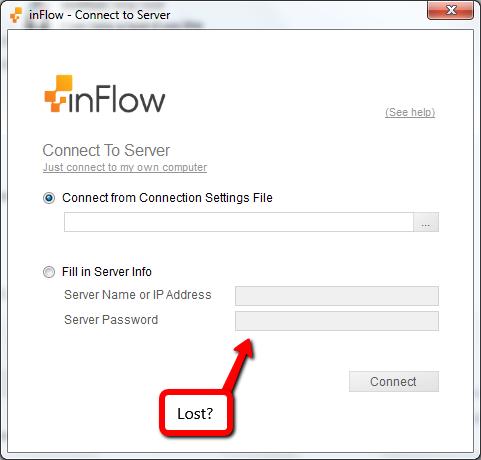 Server login screen.