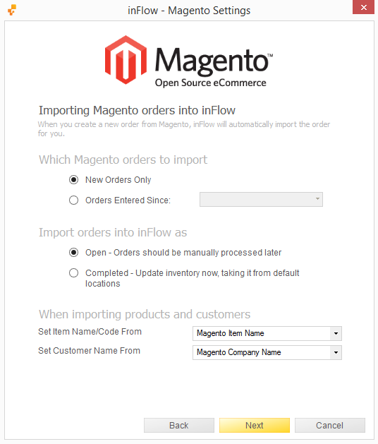 How to integrate Magento v1 with inFlow On-Premise - inFlow